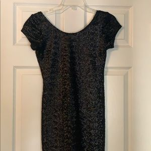 Free people / Backstage sparkly black mini dress